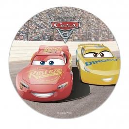 Disco de azúcar Cars 16 cm Modelo B