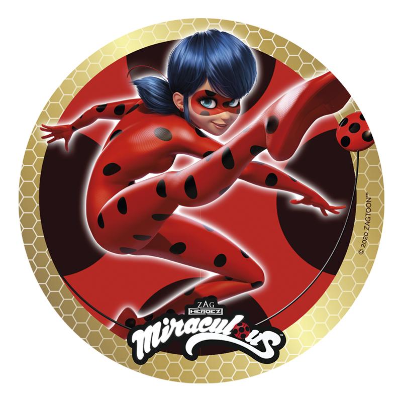 Disco de Azúcar Ladybug 20 cm modelo C