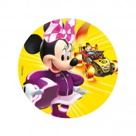 Disco de Azúcar Minnie Mouse 16 cm