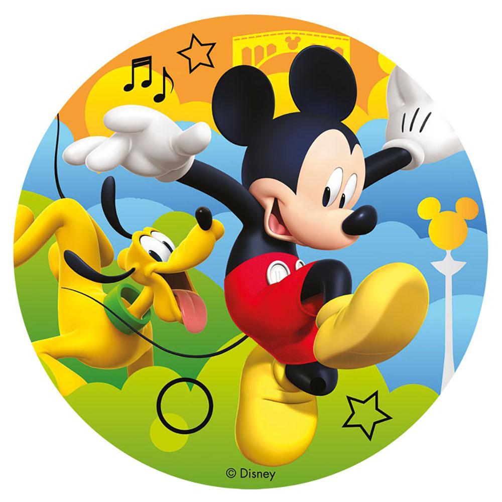 Disco de azúcar para personalizar tartas de Mickey Mouse de 16 cm