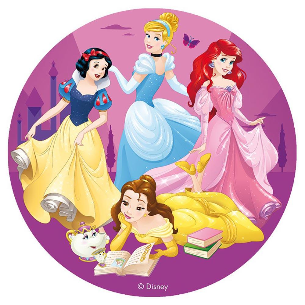 Disco de azúcar para tartas de las Princesas Disney de 16 cm
