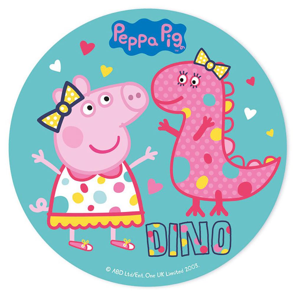 Disco de Azúcar Peppa y Dino
