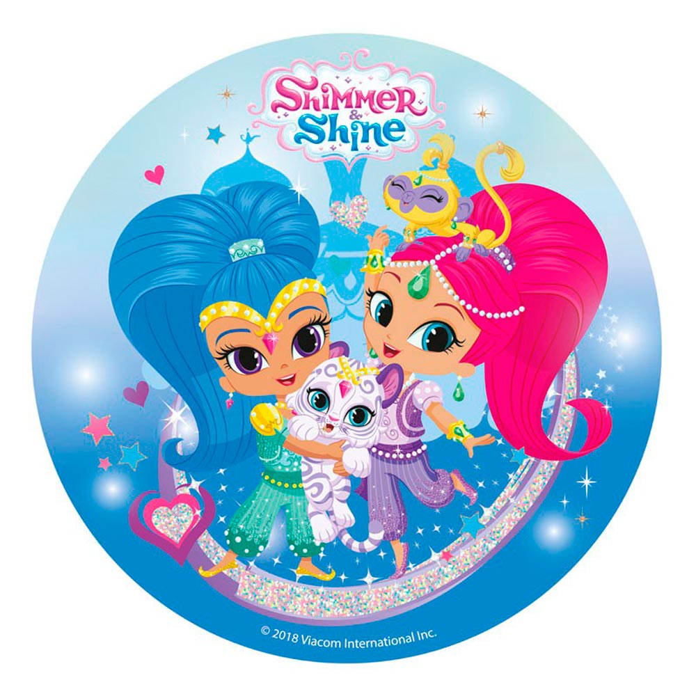 Disco de Azúcar Shimmer and Shine 20 cm