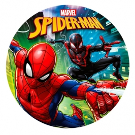 Disco de Azúcar Spiderman 20 cm