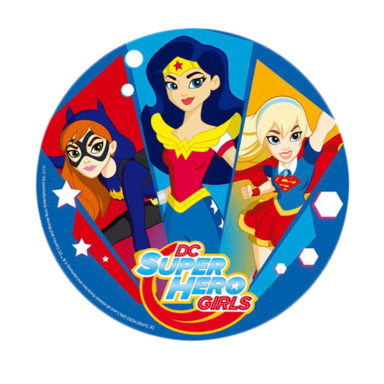 Disco de Azúcar Super Hero Girls 20 cm