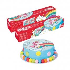 Disco de Azúcar unicornio 29 cm