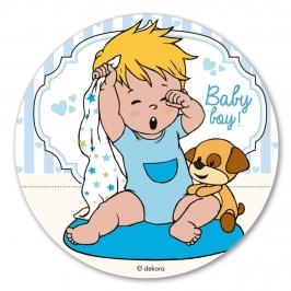 Disco de Oblea Baby Boy 20 cm