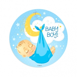 Disco de Oblea Baby Boy Modelo A 20 cm