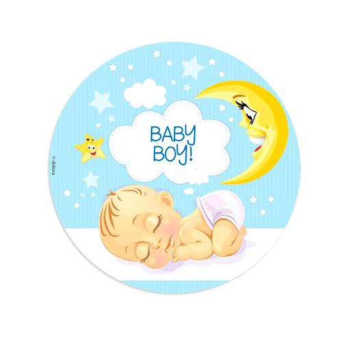 Disco de Oblea Baby Boy Modelo B 20 cm