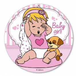 Disco de Oblea Baby Girl 20 cm