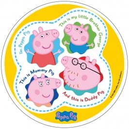 Disco de oblea Peppa Pig 20cm