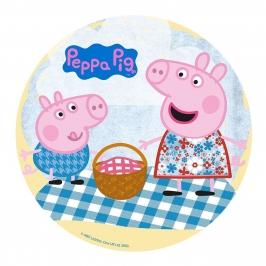 Disco de Oblea Peppa Pig y George Picnic