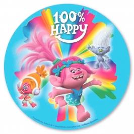 Disco de Oblea Trolls Happy 20cm