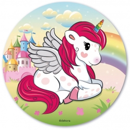 Disco de Oblea Unicornio 20 cm