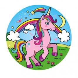 Disco de Oblea Unicornio Modelo A 20 cm