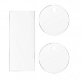 Pack 2 Discos Acrílicos Bordes Perfectos 18,5 cm + Scrapper Alisador