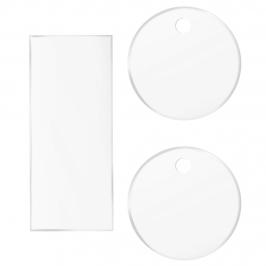 Pack 2 Discos Acrílicos Bordes Perfectos 20,5 cm + Scrapper Alisador