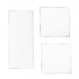 Pack 2 Discos Acrílicos cuadrados Bordes Perfectos 18.5 cm + Scrapper Alisador