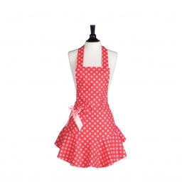 Delantal Red & Pink Polka Dot