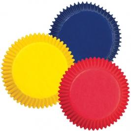 Cápsulas cupcakes colores primarios (75 uds)