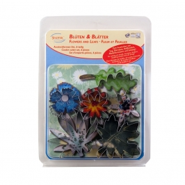 Set de 6 cortadores flores y hojas