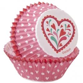 Cápsulas para cupcakes San Valentín Wilton (75 uds)