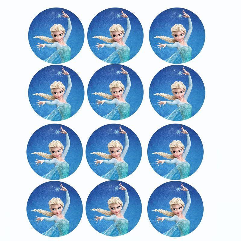 Juego de 12 impresiones en oblea Elsa 2