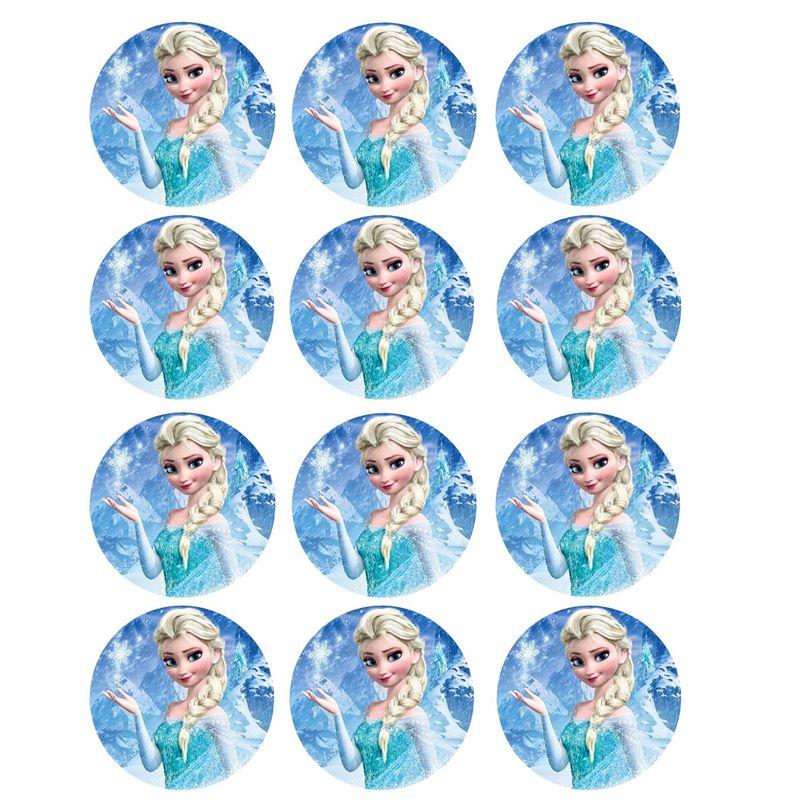 Juego de 12 impresiones Elsa en papel de azúcar