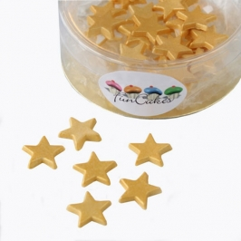 Estrellas de pasta de azúcar doradas 30 unidades