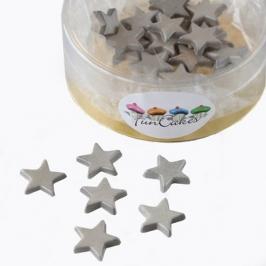 Estrellas de pasta de azúcar plateadas 30 unidades