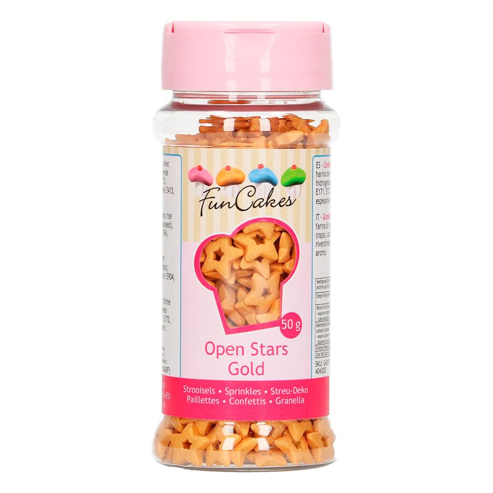 Estrellitas de azúcar color Dorado
