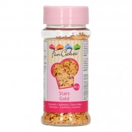 Estrellitas de azúcar doradas