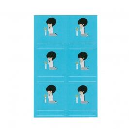 Etiquetas Adhesivas Comunión Niño Azules