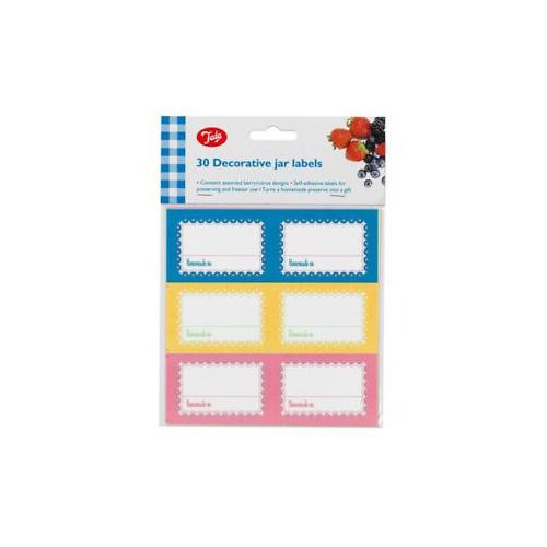 Pack 30 Etiquetas Adhesivas para Botes Mermelada