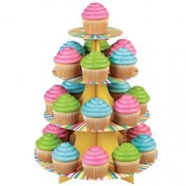 Stand para Cupcakes Arco Iris