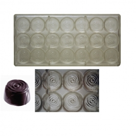 Molde policarbonato para chocolates Rosa