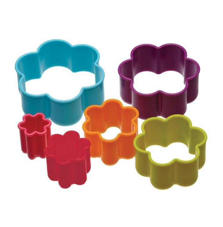 Set de 6 cortadores forma de flor