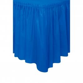 Falda de Plástico para Mesa Azul Intenso