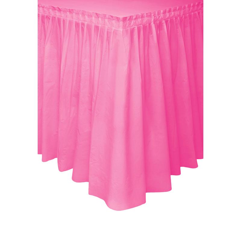 Falda de Plástico para Mesa Fucsia