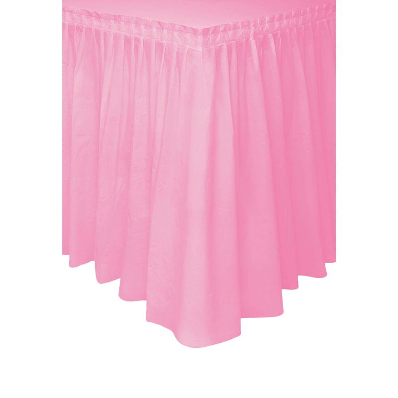 Falda de Plástico para Mesa Rosa