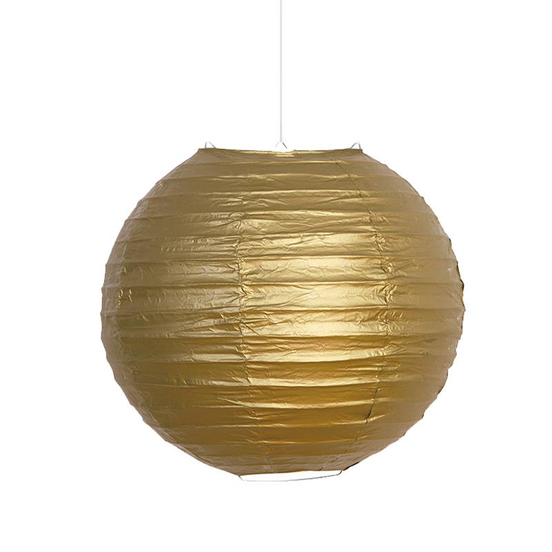 Farolillo de Papel Oro 25 cm
