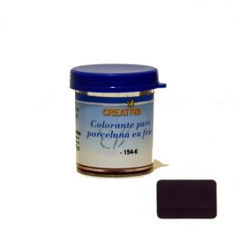 Colorante especial para porcelana fría en color Negro