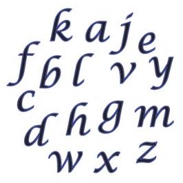 Cortador de Letras Minúsculas cursiva