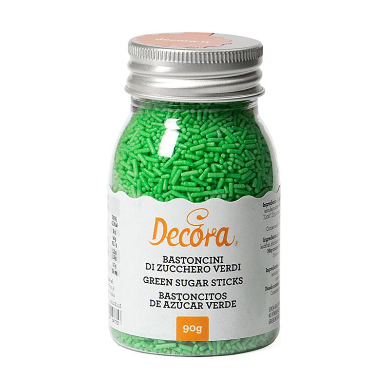 Fideos de Azúcar Verdes 90 gr - Decora
