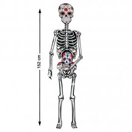 Figura de Cartón Articulado Esqueleto Catrina 152 cm