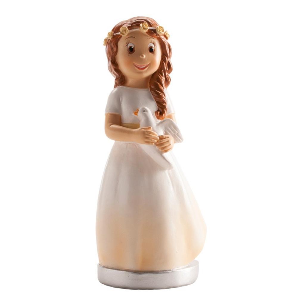 Figura de Comunión Niña con Paloma 16cm