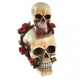 Figura Decorativa Calaveras y Rosas