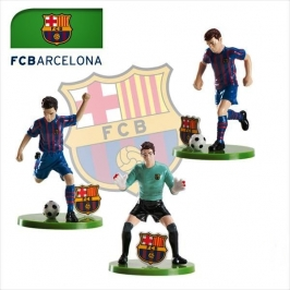 Set de 3 Figuras para tarta Barcelona 7cm