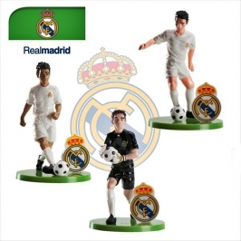 Set de 3 Figuras para tarta Real Madrid 7cm