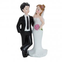 Figura decorativa pareja de novios mirándose